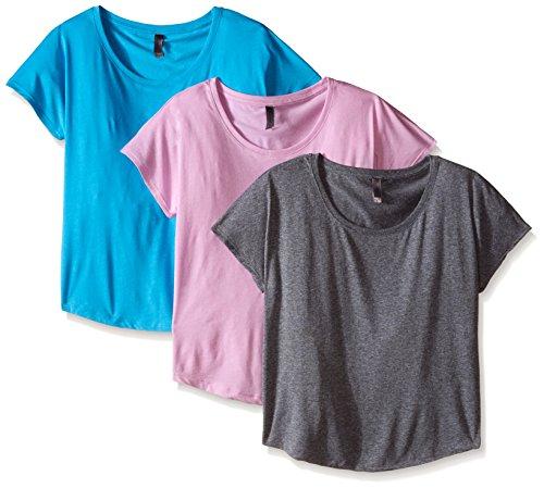 Unbekannt Clementine Damen Tri Blend Scoop Neck Dolman Sleeve Top Small Vintage Lilac/Vintage Turquoise/Premium Heather - Sleeve Ballet Neck-shirt