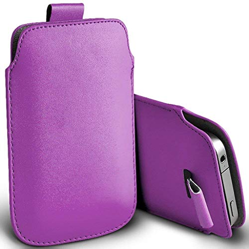 Price comparison product image I-Sonite (Light Purple) Premium Slip In Pull Tab Sleeve Faux Leather Pouch Case Cover For Apple iPhone 7 Plus [XXXL]