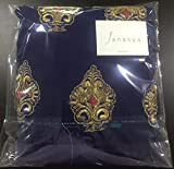 Janasya Women's Georgette Unstitched Dress Material (JNE-DR-BLUE_Blue)