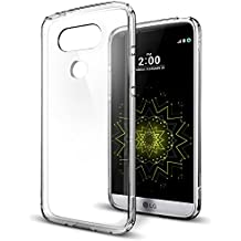 Housse pour LG G5, Spigen® [Ultra Hybrid] Technologie à bulles [Crystal Clear] Transparent Coque arrière et bumper Coque en TPU pour LG G5 Case, LG G5 Cover – Crystal Clear (a18cs20129)