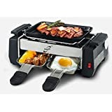 Saysha Compact & Portable Electric Barbecue Grill And Tandoor, Toaster With Frying And Roasting Function-Silver