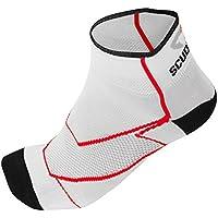 Briko Sprinter Mesh - Calcetines de ciclismo unisex, color blanco / rojo, talla M