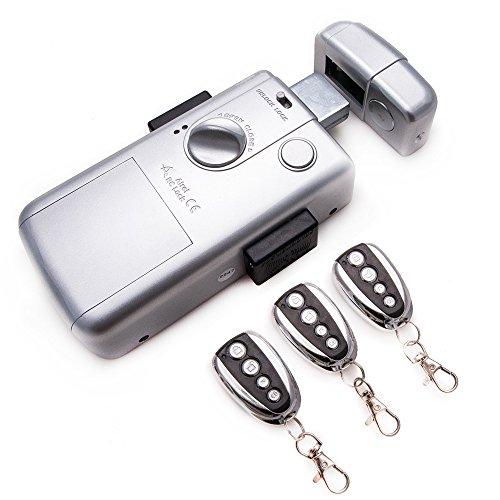Intelligente elektrisch Türschloss mit 3 Fernbedienung - RC LOCK. Farbe Silber