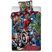 Faro Marvel Avengers Kinder Bettwäsche 140x200 cm (Oeko Tex Standard 100) 001, Baumwolle, Mehrfarben, 200 x 140 cm