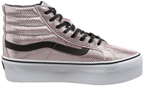 Vans - Sk8-hi Platform, Scarpe da ginnastica Unisex – Adulto Rosa (Pink (Metallic Snake - Pink/Black))