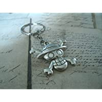 Porte-clés / collier en métal couleur Argent One Piece