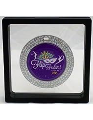 Grande Negro Challenge Coin/Medalla Ilusión Caja de presentación–108mm de ancho