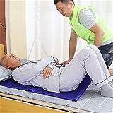 WLIXZ Paño Deslizante móvil Multifuncional, Asistencia de Giro Lateral, Paciente postrado en Cama,Blue