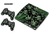 DesignSkin/Designer-Folie für Sony PlayStation PS3 SLIM System & Controller -Weeds - schwarz