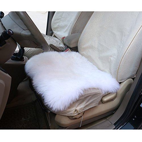 Preisvergleich Produktbild Autositzkissen Lammfell universal Sitzkissen 100% Echtlammfell, feste Wolle, ca. 6 cm dicke, 50 x 50 cm, Creme AS7339cm