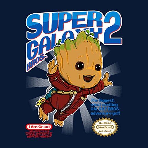 Super Galaxy Bros Groot Guardians Of The Galaxy Women's Sweatshirt Navy blue