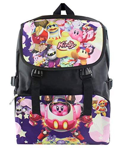 Cosstars Kirby Game HD Bild Druck Studententasche Schultasche Rucksack Büchertasche Junge Mädchen (Rucksack Kirby)