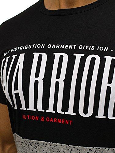 BOLF Herren T-Shirt Tee Kurzarm Military Camo Aufdruck 3D Print Motiv 3C3 Slim Schwarz_S152