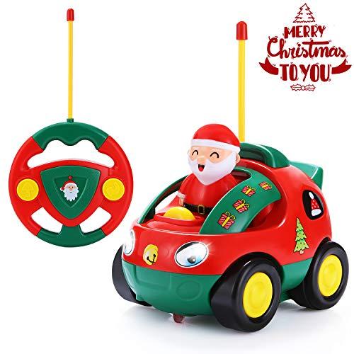 ANTAPRCIS SGILE Ferngesteuertes Auto für Kleinkinder RC Fahrzeug Polizeiwagen Spielzeug mit Sound und Licht Pädagogisches Spielzeugauto Jungen Mädchen Kinder im Weihnachtsstil