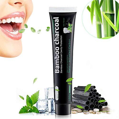 Bamboo Charcoal Aktivkohle Zahnpasta | Fluoridfrei | Natürliche Zahnaufhellung | Zahnbleaching | Minzgeschmack | Whitening Toothpaste | 100g Schwarz