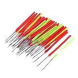 sourcingmap® Kunststoff grün, rot, Handgriff-Häkelnadel Nadeln, 50 Stück