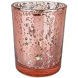 TianranRT Photophore en verre pour mariage ou décoration de maison Argenté, Or rose