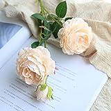 EARS Home Accessories Artificial Künstliche gefälschte Western Rose Blume Pfingstrose Bridal Bouquet Hochzeit Home Decor Party Home Decor Dekoration Wedding Decor Bouquet Artificial Flower Design (Orange)