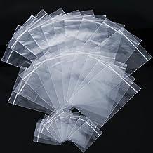 b04de9547 150 Piezas de Bolsa con Cierre Bolsa Resellable de Plástico Bolsa de  Polipropileno Transparente, 2