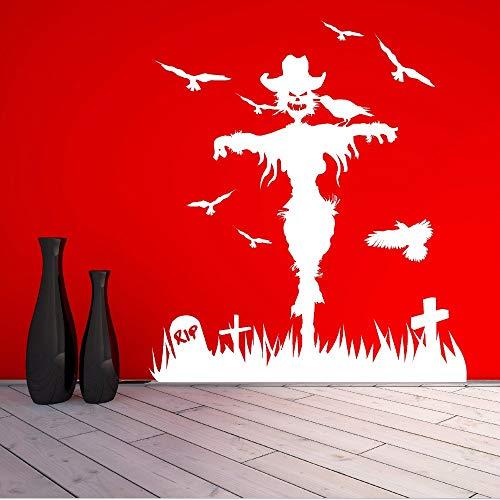 riedhof Wandaufkleber Für Wohnzimmer Hintergrund Halloween Urlaub Abnehmbare Wandtattoos Windows Kunst Aufkleber57 * 65 Cm ()