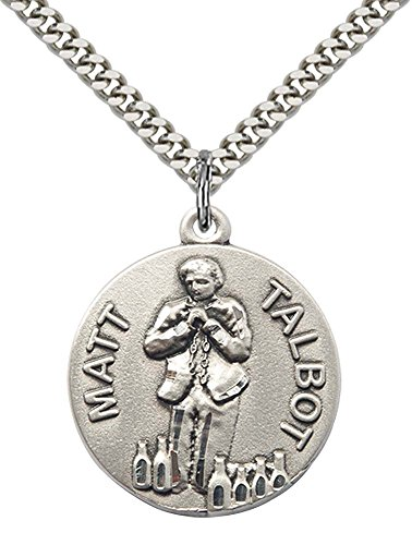 sterling-silver-matt-talbot-pendant-with-24-stainless-steel-heavy-curb-chain