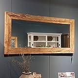 Maison ESTO Wandspiegel 200 x 80 cm Dekospiegel Spiegel Garderobenspiegel Teakholzrahmen
