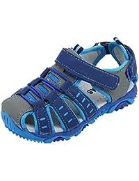 Insun Jungen Sandalen Kinder Sommer Sportliche Sandale mit Klettverschluss Schuhe Blau 28 EU