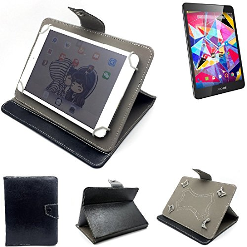 K-S-Trade Schutz Hülle Tablet Case für Archos Diamond Tab, schwarz. Tablet Hülle mit Standfunktion Ultra Slim Bookstyle Tasche Kunstleder