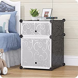 Tied Ribbons collapsible DIY Shelf Storage Cabinet closet Bedside Table for Books Kid's Toys Newspaper