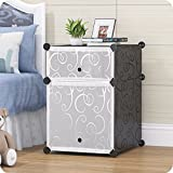 #10: Tied Ribbons collapsible DIY Shelf Storage Cabinet closet Bedside Table for Books Kid's Toys Newspaper