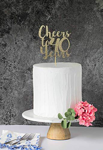 Tortenaufsatz 40. Geburtstag Cheers to 40 Years 40th Birthday 40th Cake Topper 40th Birthday Cake Topper 40th Cake Topper 40th Cake Topper (Banner Birthday Personalisierte 40th)