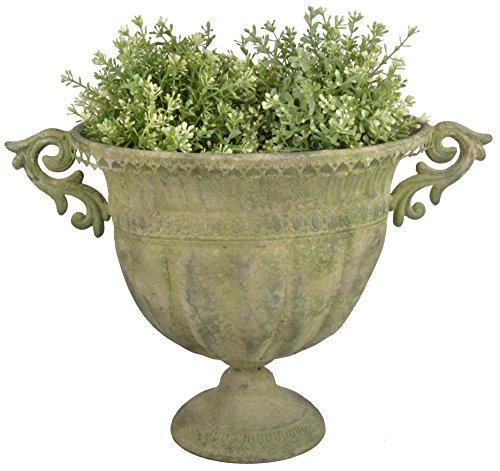 Esschert Design AM70Oval Aged Metall Urne, groß, grün -
