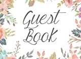 Guest Book: Floral Watercolor Guestbook