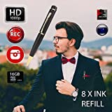 Spy Pen Eternal eye® Official 1080P Hidden Camera without Blinking Lights Professional Stealth Hidden Camera Executive Pen Spy Pen Camera 1080p Secret FREE 16GB SD + SD Reader & 8 ink Fills Inc