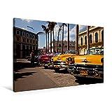 Premium Textil-Leinwand 90 cm x 60 cm quer, US Oldtimer on Havanna, Kuba | Wandbild, Bild auf Keilrahmen, Fertigbild auf echter Leinwand, Leinwanddruck (CALVENDO Orte)