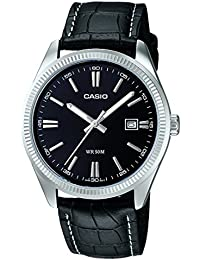 932506597ae7 Casio Orologio Analogico al Quarzo Uomo con Cinturino in Pelle  MTP-1302L-1AVEF
