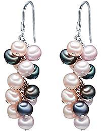 Valero Pearls - Pendants d'oreilles - Perles de culture d'eau douce - Argent sterling 925 - Bijoux de perles, boucles d'oreilles, bijoux en argent - 60200133