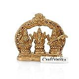 craftvtaika groß Hindu Gott Göttin Lakshmi Ganesha statue-beautiful Paar Ganesh und Laxmi auf einer Hollywoodschaukel mit spirituellem bell-unique Home Tempel Decor & Visitenkarte