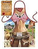 Erotische Geschenke Grillschürze Sexy Cowgirl in Bestform mit Urkunde one size