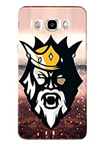 Blue Throat Man Face With Crown Printed Designer Back Cover/Case For Samsung Galaxy J5 2016