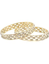 Aradhya Traditional Wedding Gold Plated Bangles Bracelets Set For Women