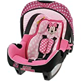 Infant Carseat Disney Official - Group 0+ (0-13kg) - Made in France - 4 stars Test ADAC - Side Protections - 4 characters