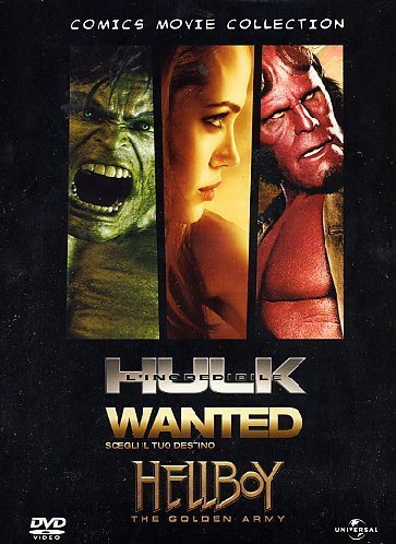 Comics movie collection - Hulk + Wanted + Hellboy II [3 DVDs] [IT Import] (Hulk Tim Roth)