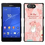 - Love Teddy Bear Peach Darling/ Fest Snap On Handy Tasche - Cao - For Sony Xperia Z3 Compact