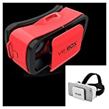 Paide Digital - Gafas Realidad Virtual 3D VR Box 11 Mini móviles Android y Iphone Rojo