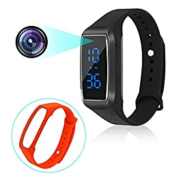 Sport watch telecamere nascoste 1080P intelligente braccialetto stile mini videoregistratore spia con display del tempo e manuale multilingue