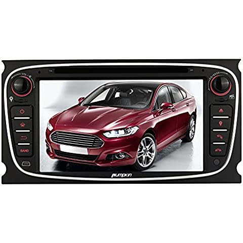 Pumpkin 2 DIN Estéreo Radio de Coche para Ford Focus/Mondeo/S-MAX/Galaxy apoyo gps navegación/FM/AM/Bluetooth/control del volante/dual-zone función/subwoofer/USB/SD/EQ/TV-Box/inversa cámara de entrada/coche DVD/VCD/MP3/reproductor de CD