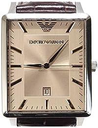 1e326c1856c5 Armani correa de reloj AR-2419 Piel de cocodrilo Marrón 22mm(Sólo reloj  correa