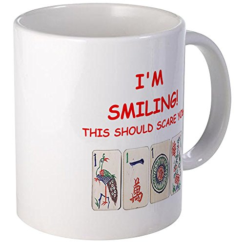 CafePress Mahjong Witz Tassen, keramik, Weiß, Größe S