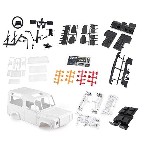 GreatWall Hartplastik 275mm Karosserie DIY Kit für 1/10 D90 RC Rock Crawler Truck Weiß D90 Kit